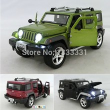 Free shipping 2014 caibo 1:32 Jeep Wrangler Pull Back Acousto-optic Toys Classic Alloy Antique Car Model Wholesale