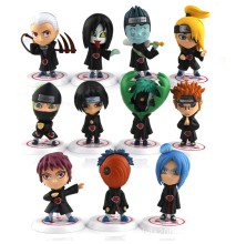 6cm 11pcs/set Japanese anime Naruto action figures Akatsuki Members cute garage kits with gift box for children