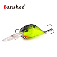 Banshee 50mm 10g Profound Pulse Floating Bass Fishing Lure Rattle Sound Wobbler Round Bill  Deep Diving Crankbaits