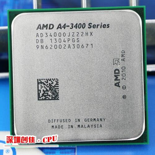AMD A4 3400 2.7GHz 1MB 65W Dual core CPU processor FM1 shipping scrattered pieces A4-3400 APU 3300