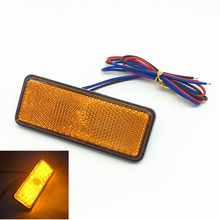 2pcs Universal LED Reflector White Rear Tail Brake Stop Marker Light For SUV Truck Trailer Motorcycle Car 3 colors
