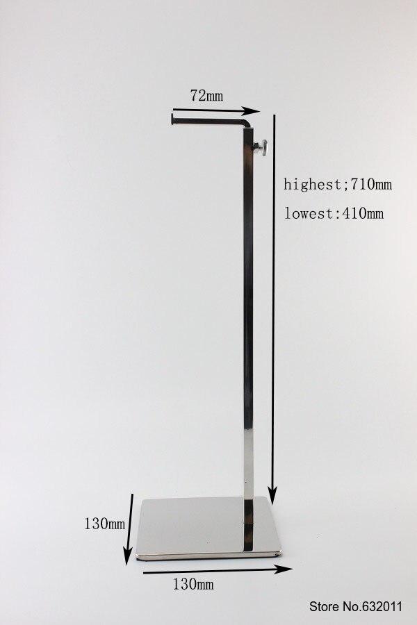 5 pcs Stainless steel bag holder bag hanger showing stand adjustable hook bag hair hat holder display rack stand<br><br>Aliexpress