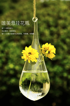Hot sale home decor glass vase zakka style drop transparent glass vase home decor Valentine gifts free shipping christmas(China)