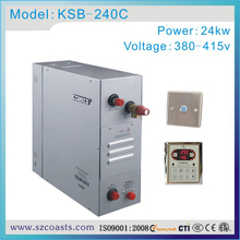 24KW 380V 50HZ sauna club steam generator with top service hole excellent working performance