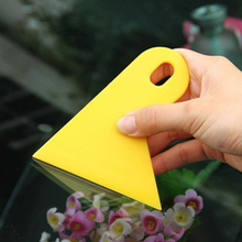 Car Sticker Scraper Yellow Plastic Car Window Foils Film Tools Wiper Plate Glass Auto Squeegee Decal Wrap Applicator Snow Frost