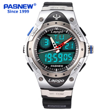 PASNEW Hotsell Fashion Cool Electronic Digital Multifunctional Waterproof Sports Luxury Top Brand Luxury Men Watch PLG-388AD(China)