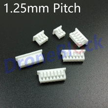 10 Pcs/ a lot 1.25mm Pitch Plug connector Pixhawk/PX4/apm2.x GPS Bluetooth Telemetry OSD power module airspeed meter ultrasonic