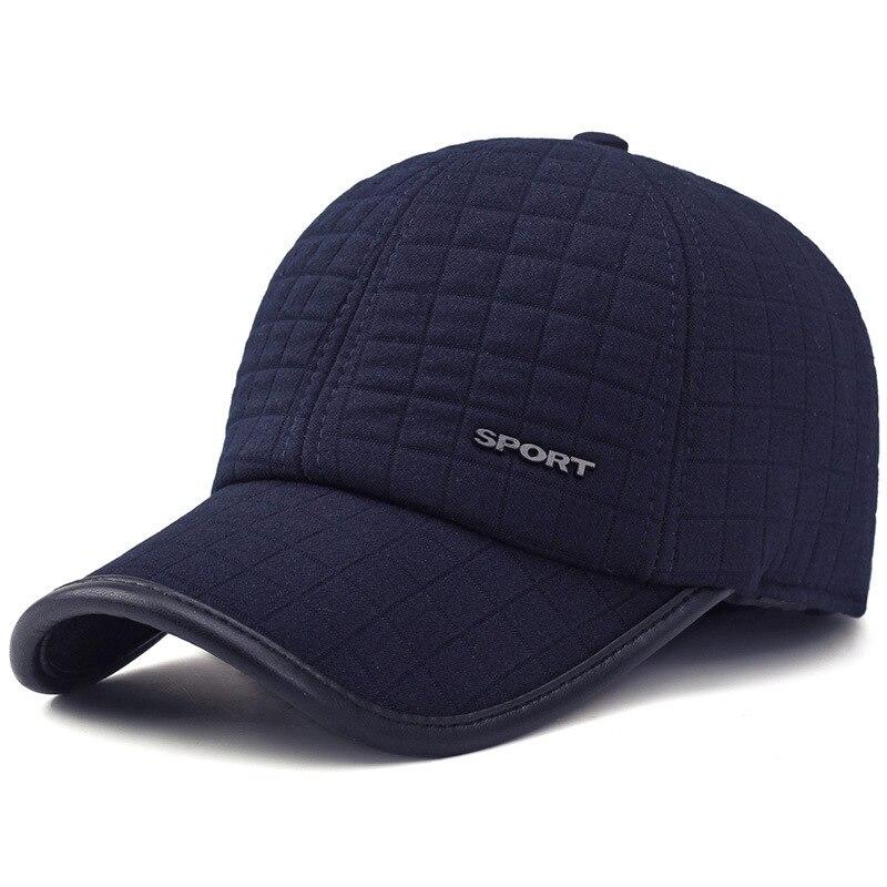 fashion winter hat man winer keep warm  cotton cap outdoor windproof ear protection male vintage sombrero short brim visor<br><br>Aliexpress