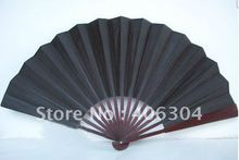 Free shipping ,open:60cm,two sides big silk fan ,bamboo and silk folding fan ,black, wedding gifts ,COSPLAY fan
