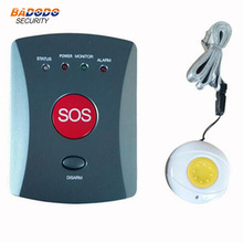 Wireless GSM SMS SOS Emergency Auto Dialer Alarm System with Panic Buttons elderly/children/medical care personal alarm(China)