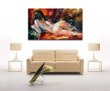 Modern Abstract Oil Painting Handpainted Nude Women Painting Oil Palette Knife Painting Canvas Art Wall Picture for Living Room(Hong Kong)