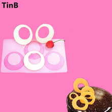 New Round shape 3D Silicone Cake Mold Baking Pastry Tools Non-stick Silicone Molds Cake Cupcake Decorating Tools Chocolate mould(China)