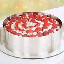 Mousse Ring Cake Mould Cupcake Mold Stainless Steel Circle Telescopic Adjustable Expandable Cake Kitchen Convenience Bakeware(China)