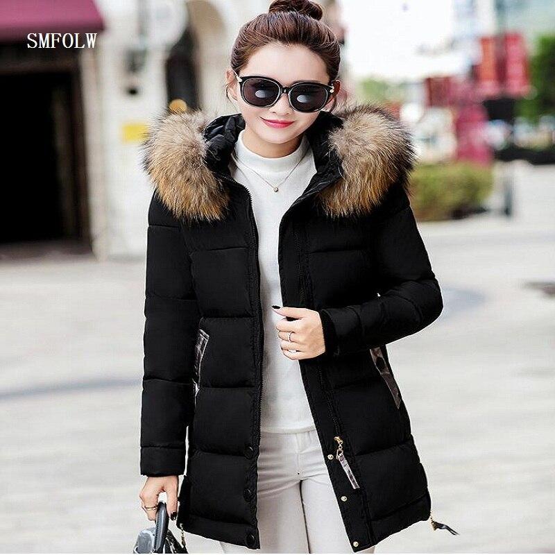 winter jacket women 2017 fashion slim long cotton-padded Hooded jacket parka female wadded jacket outerwear winter coat womenÎäåæäà è àêñåññóàðû<br><br>