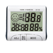 LCD Digital Weather Station Clock Thermometer Hygrometer Electronic Temperature Humidity Meter Moisture Meter Sensor(China)