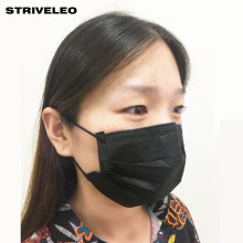 50pcs/bag Non Woven Black Disposable Face Mask Medical dental Earloop 3 layers Anti-Dust Face Surgical Masks(China)