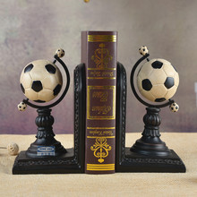 European football Bookends personality birthday gift ornaments study desk bookcase decor decoration