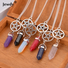 Buy Supernatural Stars Vintage Crystal Bullet Natural stone Quartz Necklace Pendant stone Rope Chain Jewelry Bijoux for $1.34 in AliExpress store