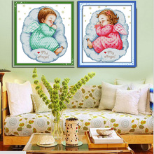 Buy Asleep angel baby Counted Cross Stitch 11CT Printed 14CT Cross Stitch DIY Chinese Cotton Cross-stitch Kit Embroidery Needlework for $4.45 in AliExpress store