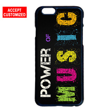 Power Of Music Case Cover for LG G2 G3 G4 G5 G6 iPhone 4 4S 5 5S SE 5C 6 6S 7 8 Plus X iPod Touch 5(China)