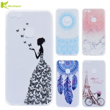 KL-BOUTIQUES Phone Case For Huawei P10 lite Cases Silicone Fresh Slim Soft Back Cover For Huawei P10 lite Butterfly Girl Coque