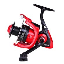 Spinning Reel Handle Plastic Fishing Reel FD1000-6000 Spinning Fishing Reel Durable Left And Right Hand Exchange Black With Red(China)