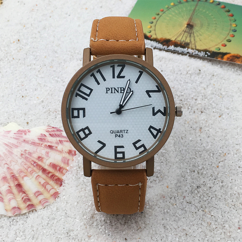 Watch Men PINBO Brand New Fashion Leather Sports Quartz Watches Unisex Relogio Masculino Reloj Hombre Military Wrist Watch Hot<br><br>Aliexpress