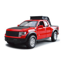 1:32 scale Ford Raptor Pickup truck F150 diecast metal car model pull back alloy toys with light and sound for kids collection(China)