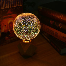 Novelty firework Holiday 3D Light Bulb Fireworks 3D Effect LED lamp Home Vintage Decoration E27 4W A60 G95 G125 AC110V-240V(China)