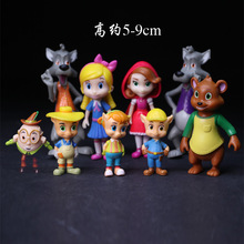 9pcs Goldie & Bear Goldilocks and the Three Bears Big bad wolf Little Red Riding Hood Fairy Tale Forest Friends Figure Toy(China)