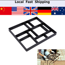 Garden Walk Path Maker Mold Road Paving Cement Mould Brick Stone Auxiliary DIY Plastic Concrete Paving Mold For Pavement Walkway(China)