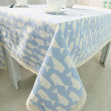table cloth coffee tea table cloth whale christmas animal linen cotton japan europe american modern style deal free shipment