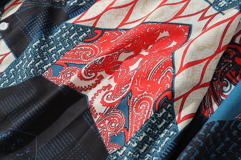 Ukiyo E Geometry Patchwork Shirts 3