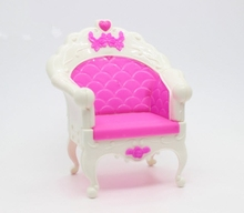 Doll Accessories Plastic Fashion Style Chair Princess Doll Sofa Armchair Furniture Chair For Barbie Doll House Best Gift Toys