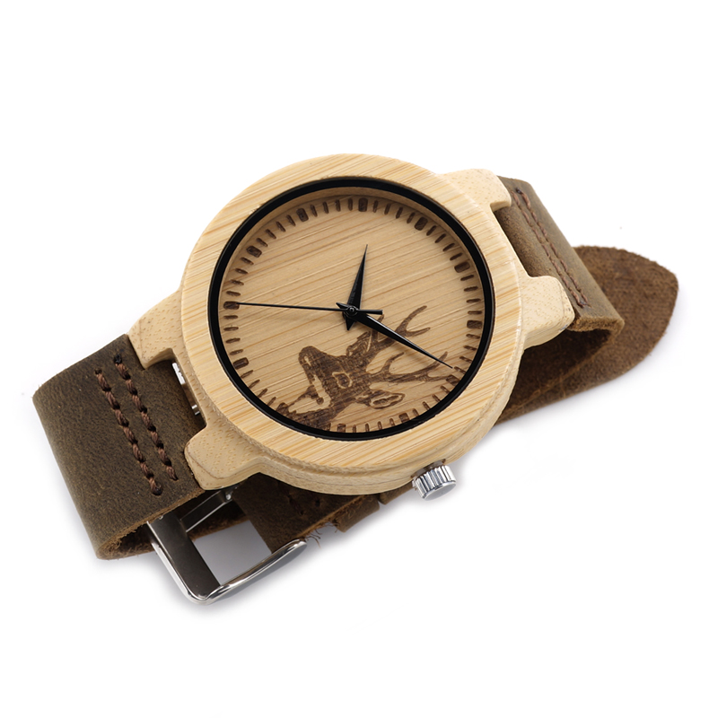 BOBO BIRD 2017 Watch Men Handmade Bamboo Watches with Genuine Leather Band Luxury Wooden Wristwatches relogio masculino C-D14BA<br><br>Aliexpress