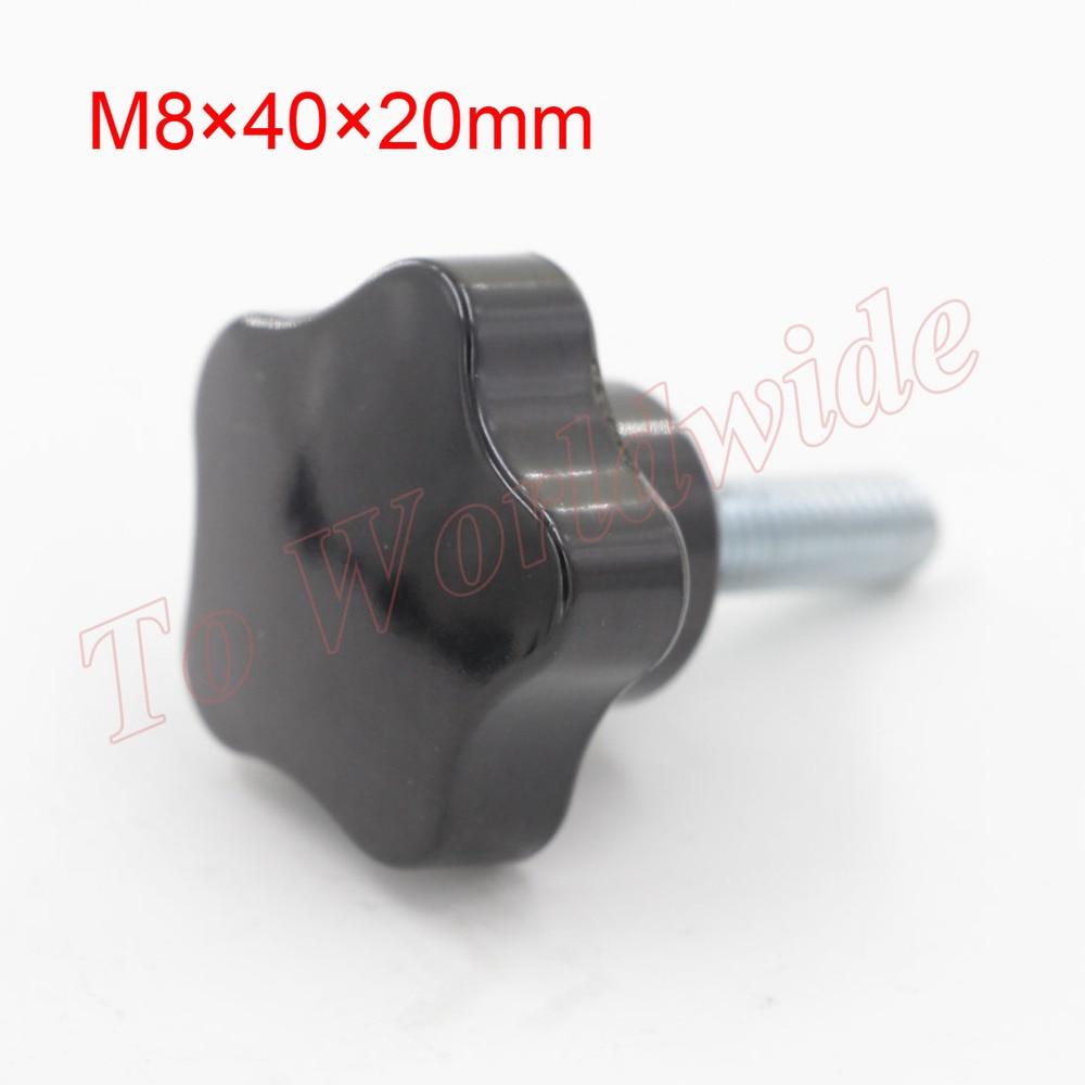 8mm Diameter Female Thread Star Knob M8 Star Handles 40mm x 20mm Star Shaped Head Clamping Screw Knob<br><br>Aliexpress
