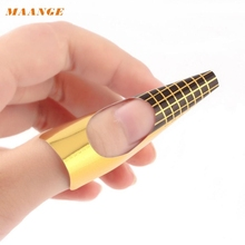 Best Deal MAANGE Nail Art Stickers Nail Art Tips Extension Forms Guide French DIY Tool Acrylic UV Gel 100Pcs drop shipping(China)