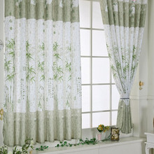 Bamboo Calico Finished Product Cloth Window Screens Curtain Bedroom curtains Blackout Tulle