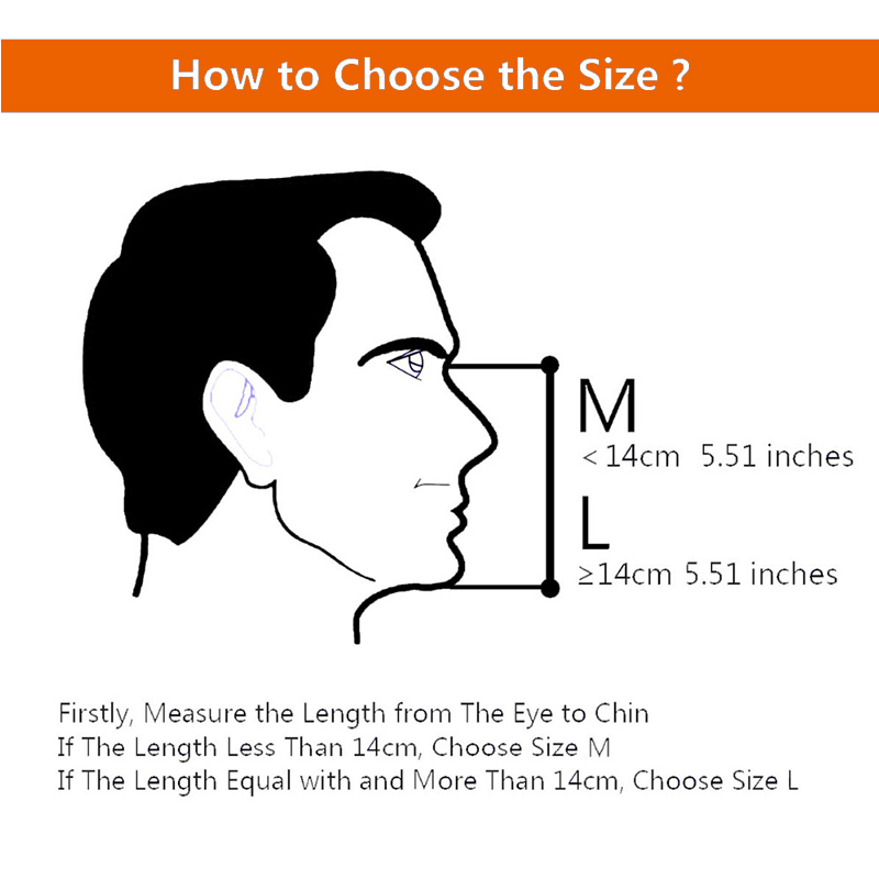 diving mask size