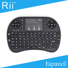 Original Rii i8+ 2.4G Wireless Mini Spanish(Espanol) Keyboard for Android TV Box/PC with Backlight High Quality