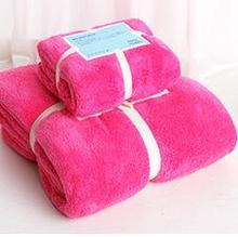 2pcs/set Family Home Bath Towel Set Plush Microfiber Drying Face Clothes Outdoors Travel Gym Beach Serviette