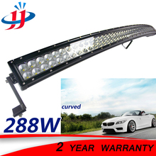 288W curved led light bar light work truck runining lights for cars Spot flood Offroad Boat Marine boat yacht Dune buggy