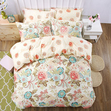 Hot sale Home Textile 3/4pcs Bedding Sets Size for Twin Full Queen king Home Hotel Bed Linen Bed Sheets Duvet Cover Set