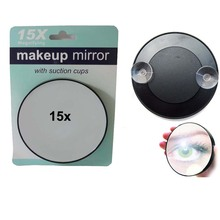 15X Mirror Make Up Magnifier Cosmetic Magnifying Face Care Bathroom Compact Mirror forMakeup #MF015 1x/lot