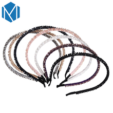 M MISM Fashion Women Shiny Acrylic Decoration Headband Unique Female Twinkling Hair Band Wedding Hairbands Hair Accessories