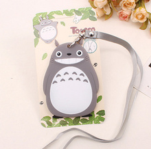 Kawaii SIZE 11*7CM NEW TOTORO Silicone Rubber Travel Luggage Tag Cards Case Pad ; Luggage Case TAG Label Name Cards TAG(China)