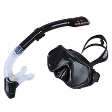 Professional Diving Mask 4 Colors Diving Training Silicone Diving Glasses Dry Snorkel Set Anti-fog Double Water Sports Equipment(China)