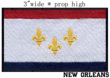 "New Orleans, Louisiana USA Flag 3""wide  embroidery patch  for Baton Rouge/Union Justice Confidence/Cypress"