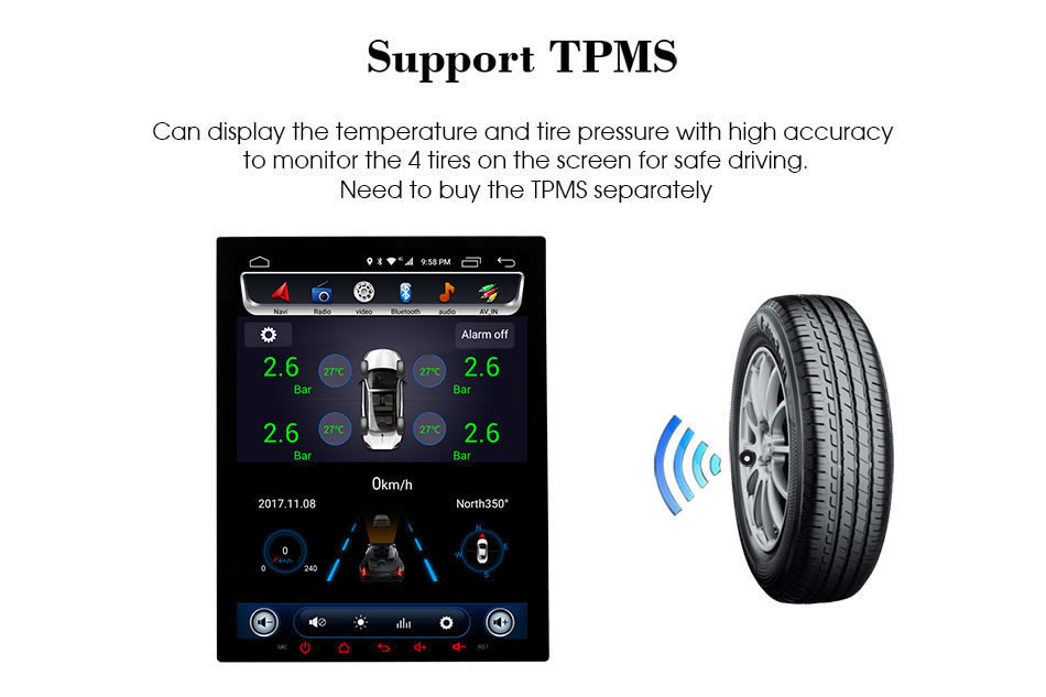 Car dvd C600 TMPS