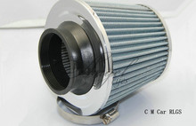 Silver 76 mm automotive air filter SIMOTA mushroom head flow engine air intake head empty in system, free shipping